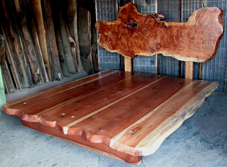 Redwood Burl Bed