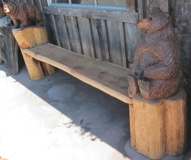 Redwood Bear Bench
