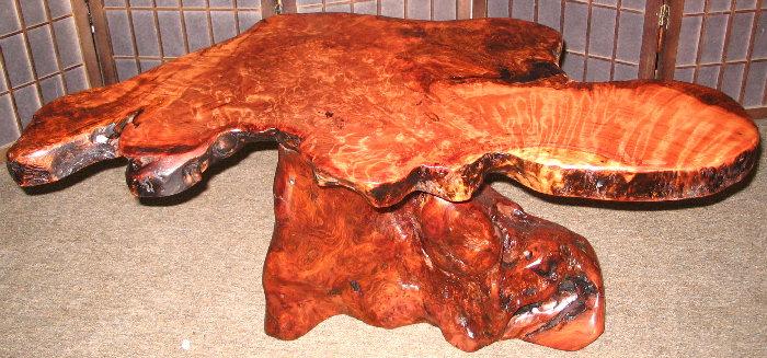 Burl Wood Coffee Table  SOLD!