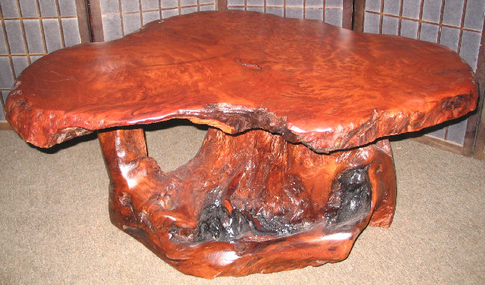 Redwood Burl Coffee Table  SOLD!
